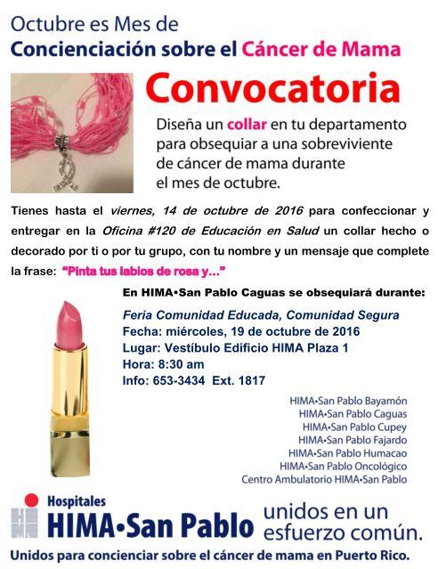 Hospitales HIMA•San Pablo unidos contra el Cáncer de Seno