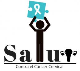 LOGO SALUD CONTRA EL CANCER CERVICAL Fondo Blanco